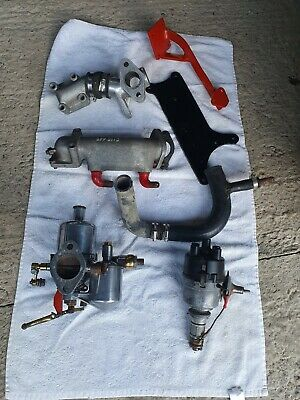 Classic Mini Shorrock Supercharger Manifolds, SU H4 Carb, Brackets, Dizzy *RARE*