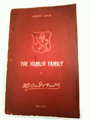 HAMLIN FAMILY History 1639-1894 Part One ANTIQUE Softcover