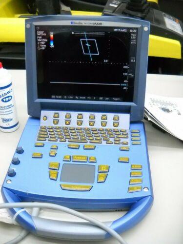 SONOSITE MICROMAXX P05361-01 ULTRASOUND SYSTEM WITH L38e & C60e TRANSDUCERS