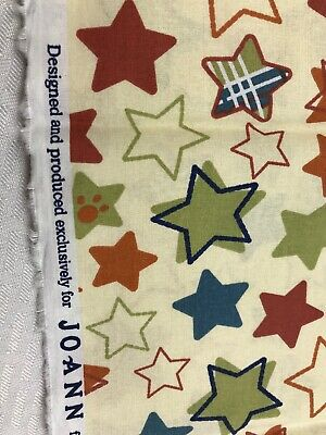 1 Yard Star Fabric HOBBY LOBBY Colorful sewing crafting