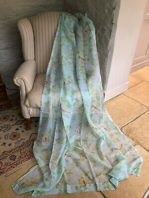 """SO PRETTY HUGE NEW 52""""X90"""" LAURA ASHLEY """"AVIARY GARDEN"""" SHEER VOILE CURTAINS"""