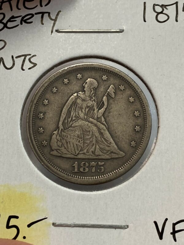 1875-S Seated Liberty 20 Cent Peice