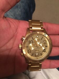 Nixon 48-20 Chronograph Gold Watch