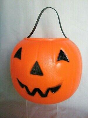 Vintage Empire Halloween Blow Mold Pumpkin Jack-O-Lantern Trick-or-Treat Bucket