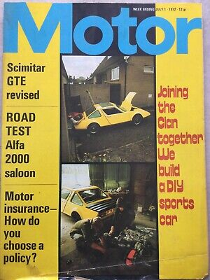 Motor Magazine - 1 July 1972 - Scimitar GTE, Alfa 2000, Clan Crusader, F5000