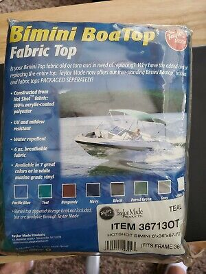 Bimini Boat Top by Taylor Made 36713OT Teal Fabric Top 6' x 36