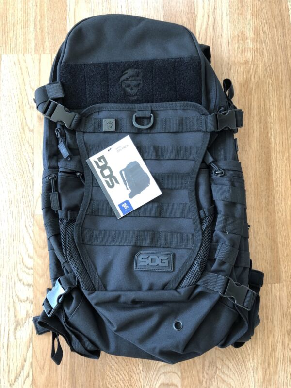 NWT Black SOG Opord Tactical Day Pack Backpack MOLLE Equipped
