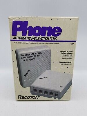 Recoton Phone Automatic Fax Switch T-1350 For Homeoffice Use