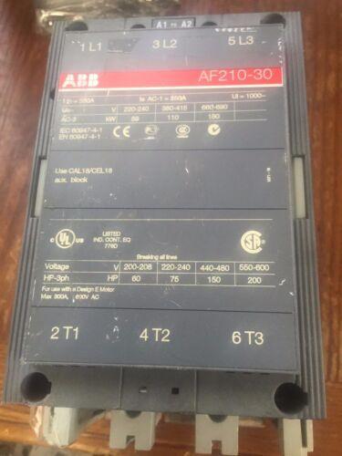 ABB ASEA BROWN BOVERI CONTACTOR 3POLE AF2103010E70