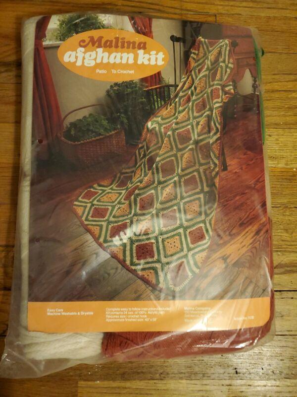 Malina Afghan Patio to crochet n.1530 VINTAGE NEW