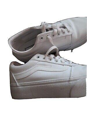 Womens white vans size 5