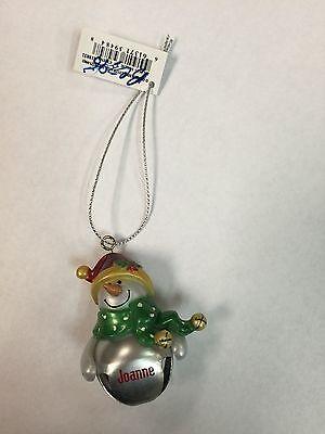 Ganz Snowman Silver Bells Ornament-