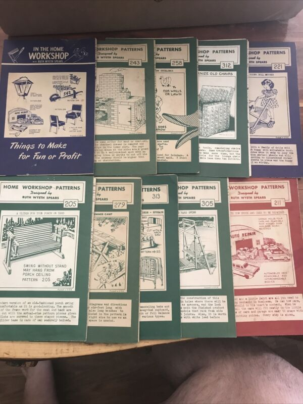 10 Vintage Home Work Shop Patterns Ruth Wyeth