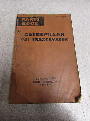 Caterpillar Cat 940 Traxcavator Parts Catalog Manual 80h1 80h3039 1972