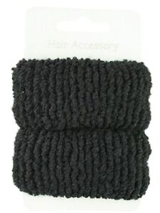 Pair-of-Large-Soft-Hair-Donuts-Ponios-Bobbles-Hair-Bands-Hair-Accessories