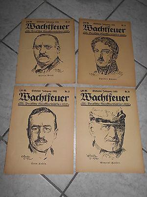 4 Ausgaben Wachtfeuer Kunsthefte 1921 Deutsche Künstlerblätter 13 14 15 16