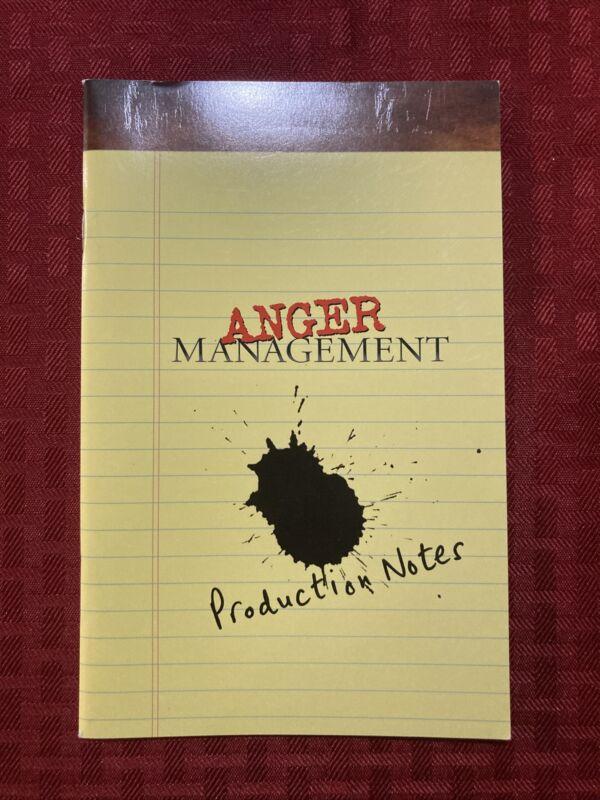 Anger Management Production Notes  2003 Adam Sandler Jack Nicholson Marisa Tomei