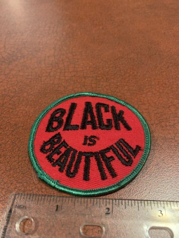 Black Is Beautiful Vintage 1970's Vietnam Era Hippie Textile Patch FREE SHIP
