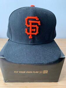 Authentic New Era San Francisco Giants Black Hat (Size 7 1/2)