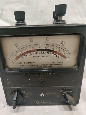 Multi-range Volts Milliamp Meter -sensitive Research Instrument Tested Working