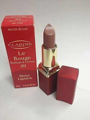 Clarins Le Rouge Sheer Lipstick 20 0.12 Oz/ 3.5 G LOT L NIB Clarins Le Rouge Lipstick