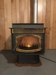 Pellet stove and chimney