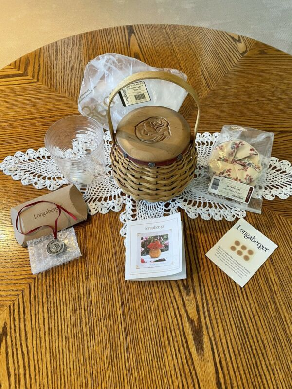 LONGABERGER 2004 LET ME CALL YOU SWEETHEART BASKET SET TOURNAMENT OF ROSES! NEW!