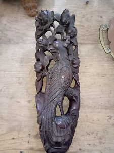 Beautifully carved Asian Phoenix bird wall hanging  ornament Kyogle Kyogle Area Preview