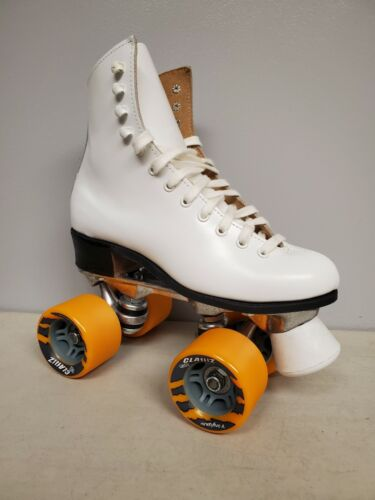 Brand New Riedell 120 Leather Boot Roller Skates Girls size 4