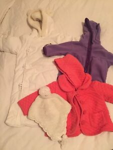0-6 and 6-12 month snow suits