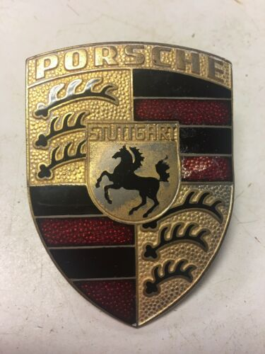 PORSCHE STUTTGART RADIATOR BADGE CAR TRUCK EMBLEM HOOD ORNAMENT SIGN