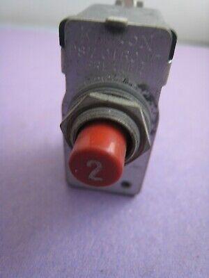 Klixon Aircraft Circuit Breaker Psm 2 Amp