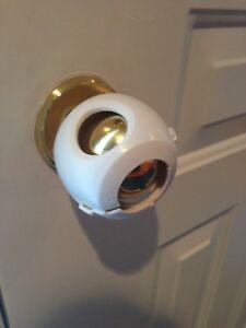 Door knob safety lock