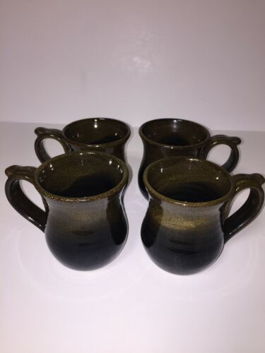 Alewine Pottery Handmade Coffee Tea Mugs Signed Alewine Pottery Gatlinburg Set o