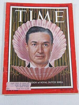 Time Magazine  May 9  1960  John H Loudon Of Royal Dutch Shell  Vintage