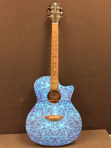 LUNA Acoustic guitar -GYP QATBL -Blue