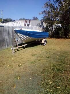 4.85 metre alloy boat