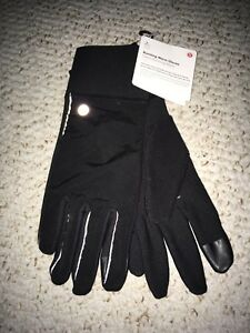 New lululemon women's black running gloves size M/L