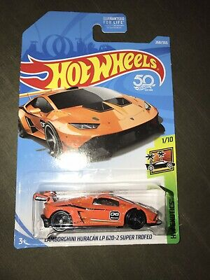 2018 Hot Wheels #268 HW Exotics 1/10 LAMBORGHINI HURACAN LP 620-2 SUPER TROFEO