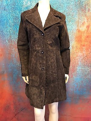 A. BERNARDO FASHIONS CO. Dark Brown Top Stitched Leather Jacket - Womens  Size M