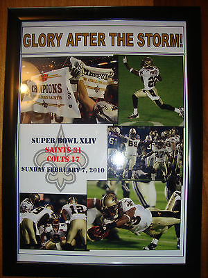 New Orleans Saints 31 Indianapolis Colts 17 - 2010 Super Bowl - framed print