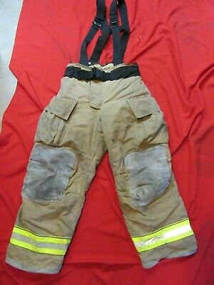 Mfg. 2013 Globe Gxtreme 36 X 30 Firefighter Turnout Bunker Pants Suspenders