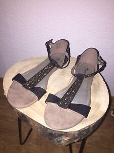Sandalen Flach Schwarz eBay Kleinanzeigen