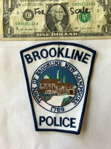 Very Rare Brookline New Hampshire Police Patch un-sewn in great shape