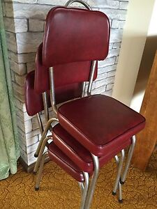 Retro kitchen chairs deep red Rye Mornington Peninsula Preview