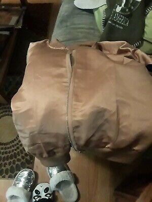 Women's Ladies Solid Satin Zipper Up Bomber Jacket Casual Baseball Coat Outwear