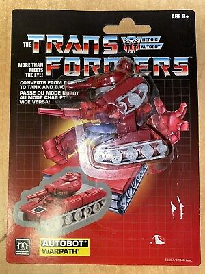 Transformers G1 Walmart Exclusive Reissue Autobot Warpath 2018 Brand New USA!