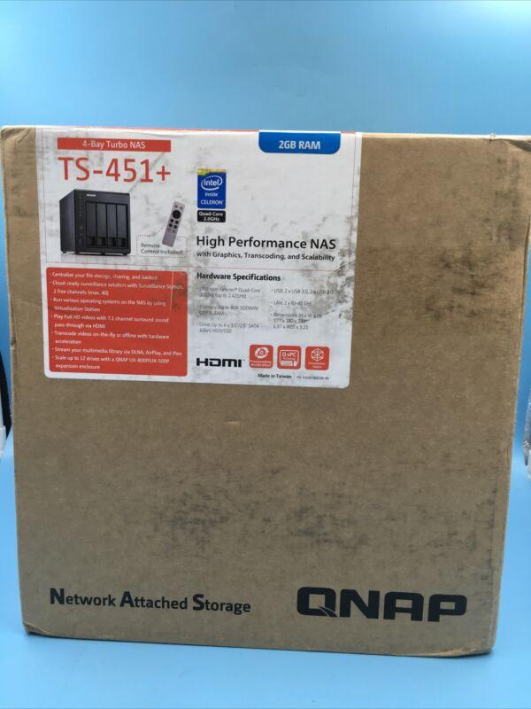QNAP TS-451+-8G 4 Bay Diskless NAS Quad-core 2.0GHz CPU 8GB RAM