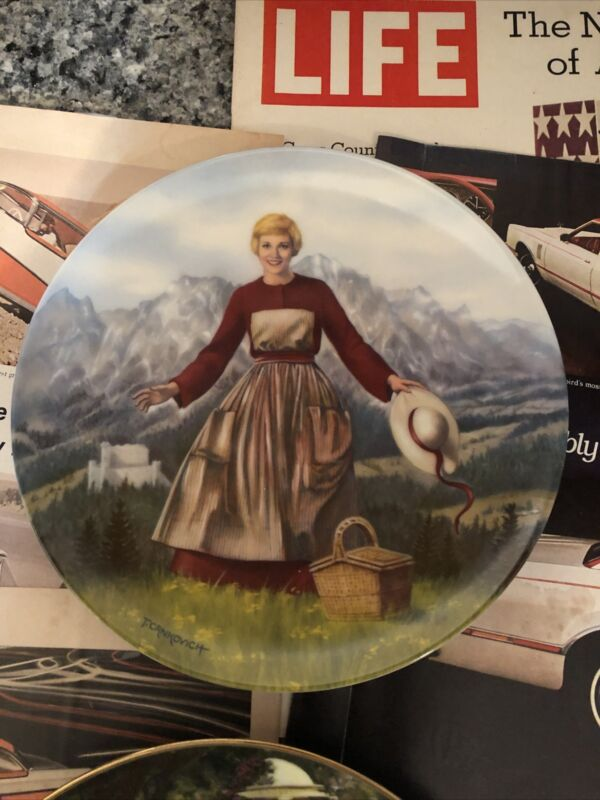 The sound of music plate 1986 plate no 6497c Beautiful A Piece Of History!