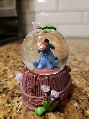 Disney Winnie the Pooh Eeyore With Butterfly Mini Snow Globe 3 Inches